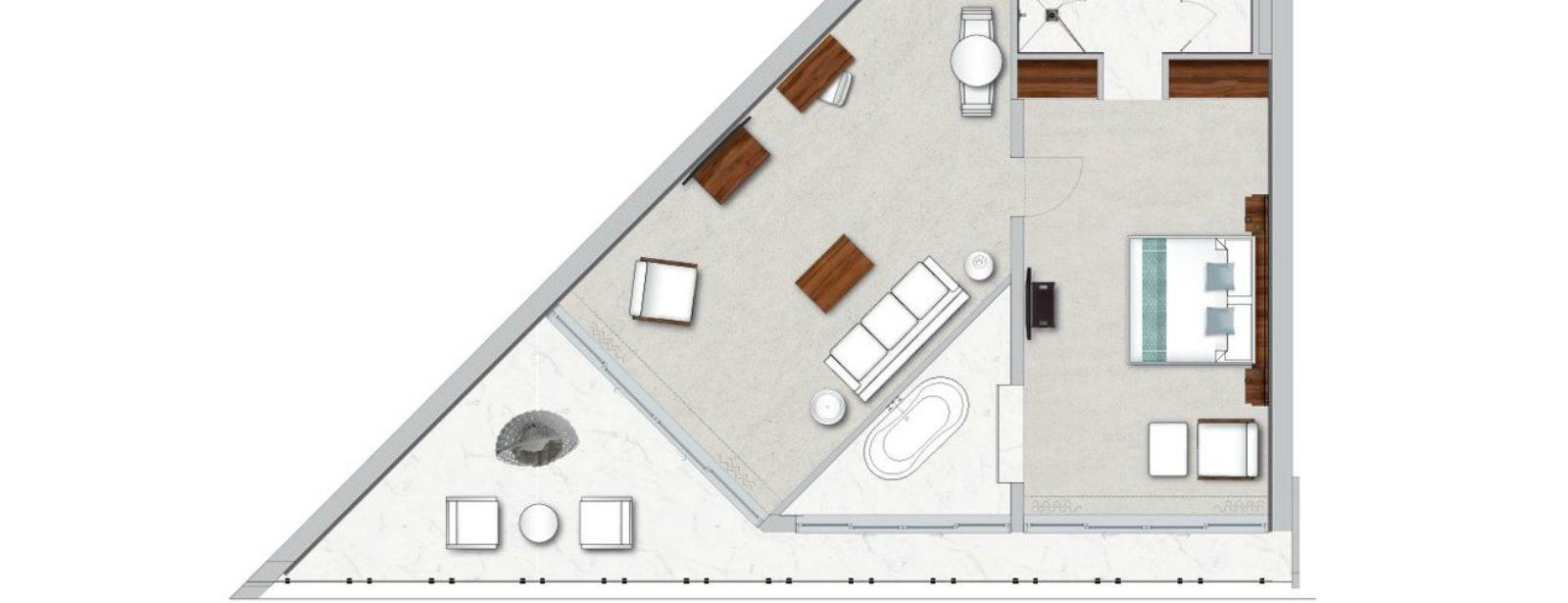 Floor Plan of Panoramic Suite, Sea View